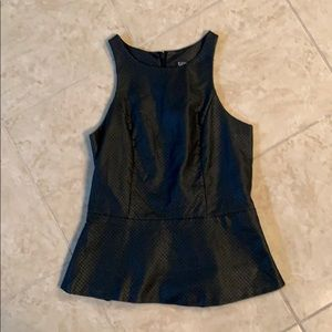 Express Faux Leather Peplum Top